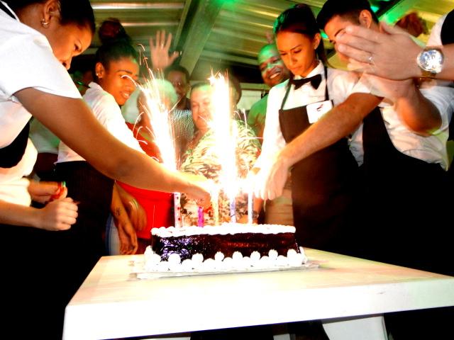 El cake para celebrar los cinco años